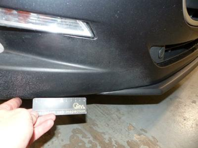 Bumper F Mauvaise réparation
