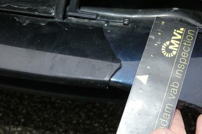 Bumper moulding F M Broken