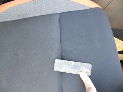 Revêtement assise siège AVD Tache
