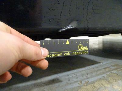 Garniture bas de caisse ext D Dent(s) and scratch(es)
