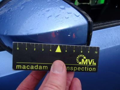 Rearview mirror housing L Scratch(es)