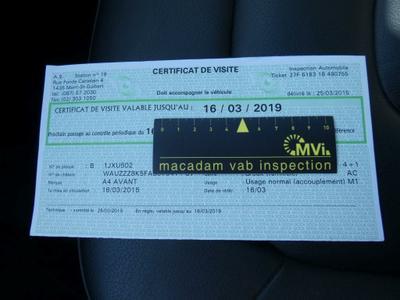 MOT Certificate Incomplete